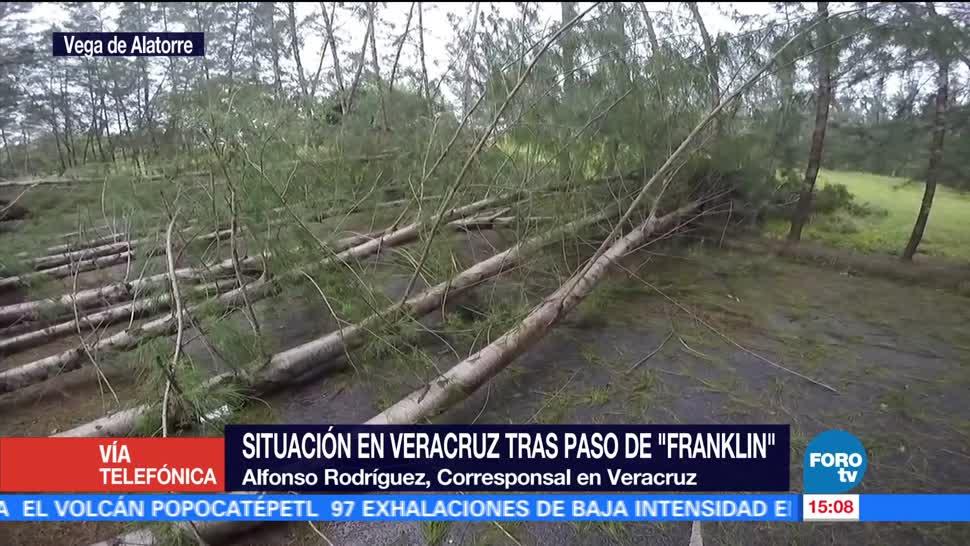 mantiene alerta naranja Veracruz paso Franklin