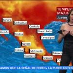 El clima para viernes con Mayte Carranco