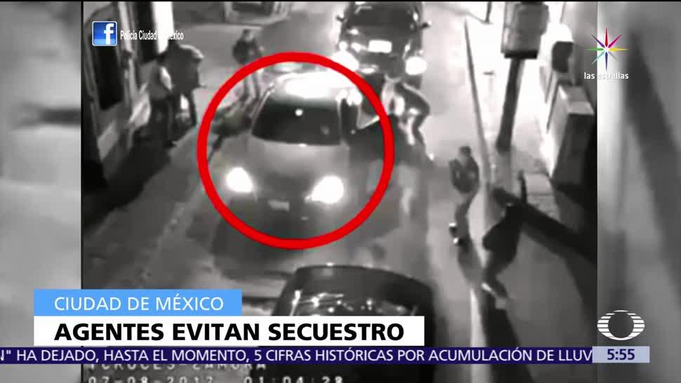 Agentes evitan secuestro en la CDMX