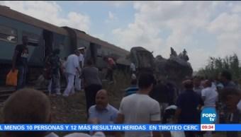 Decenas muertos choque trenes norte Egipto