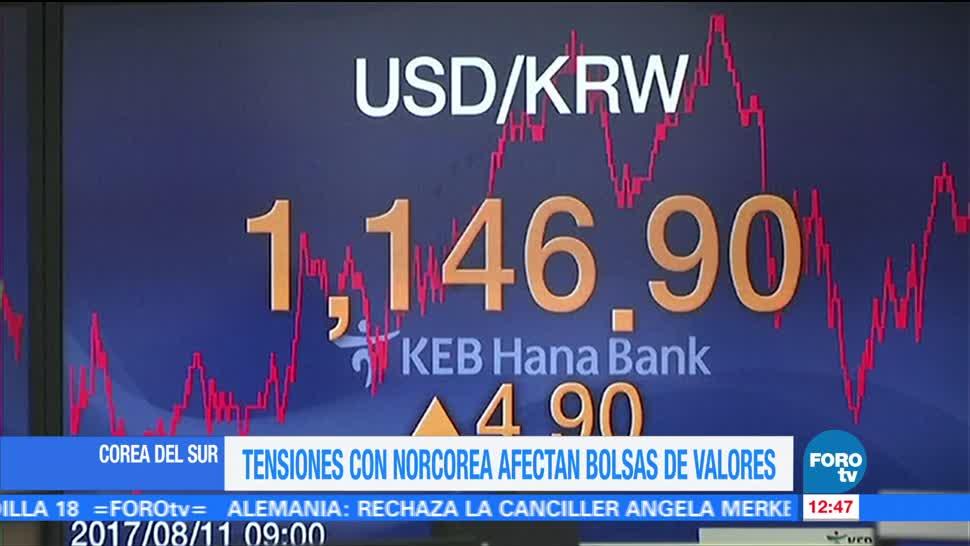 Tensiones EU Norcorea impactan mercados bursátiles