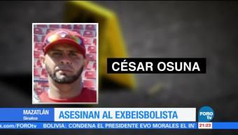 Asesinan a exbeisbolista en Mazatlán Sinaloa