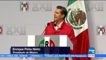 Peña Nieto encabeza Asamblea Nacional del PRI