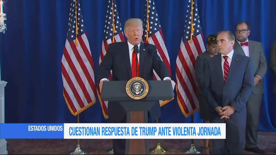 Cuestionan Respuesta Trump Violencia Virginia