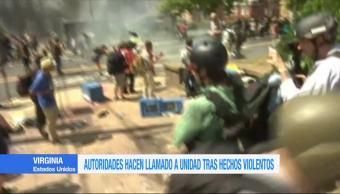 Autoridades Llaman Unidad Tras Hechos Violentos Virginia