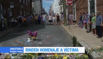 Rinden Homenaje Victima Charlottesville Virginia