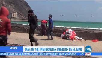 Suman Inmigrantes Muertos Mar Yemen Traficantes