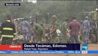Realizan maniobras retirar avioneta accidentada Tecámac