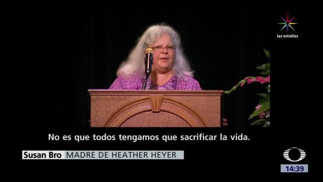 Rinden homenaje víctima atropellamiento en Charlottesville