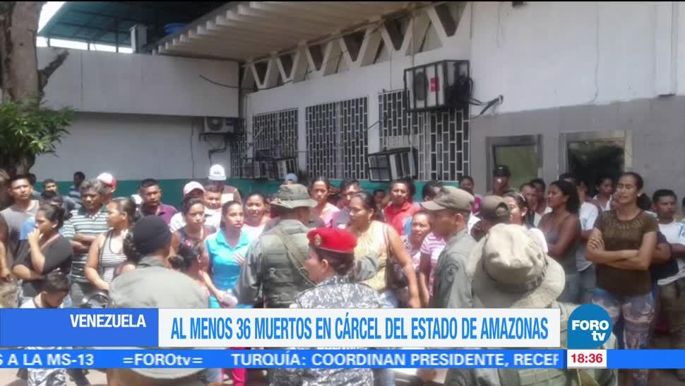 Motín cárcel venezolana deja 36 muertos