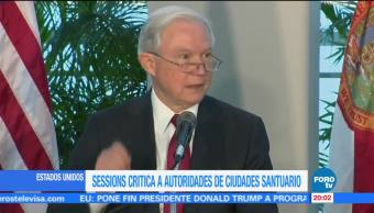 Sessions critica a autoridades de ciudades santuario