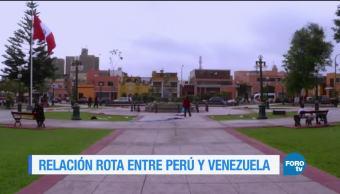 Perú y Venezuela, una relación rota