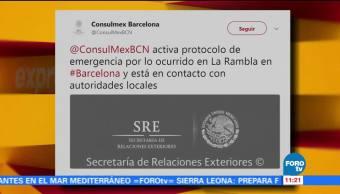 Consulado, México, Barcelona, emergencia