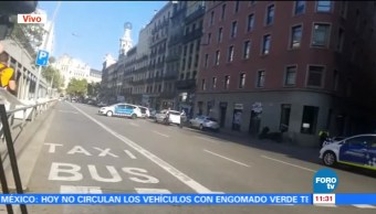 Camioneta Atropella Multitud Las Ramblas