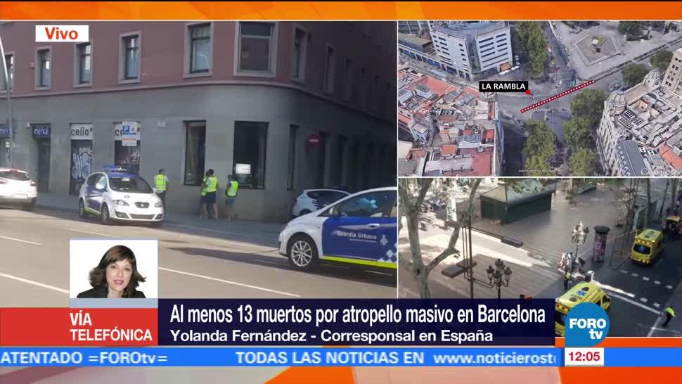 muertos, atropello, masivo, Barcelona