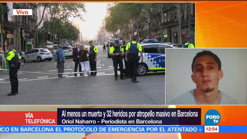 Reportan, segundo, atropellamiento, Barcelona