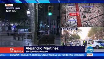Vivimos caos locura atentado Alejandro Martínez