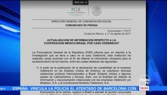 PGR actualiza información sobre caso Odebrecht