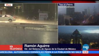 Lluvia con granizo en la CDMX no genera problemas: Ramón Aguirre