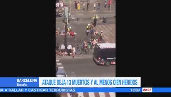 Atentado terrorista hiere a Barcelona España