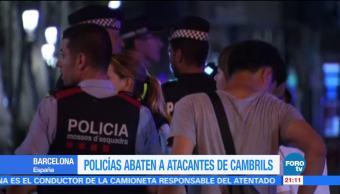 Policías catalanes abanten a 5 presuntos terroristas en Cambrils