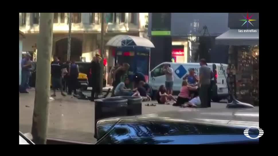 Ataque terrorista ahora en Barcelona España