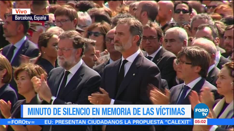 Guardan Minuto Silencio Victimas Atentado Barcelona