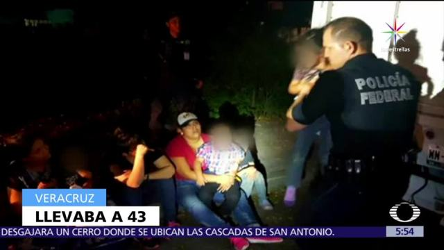 Aseguran Indocumentados Centroamericanos Veracruz Policia Federal