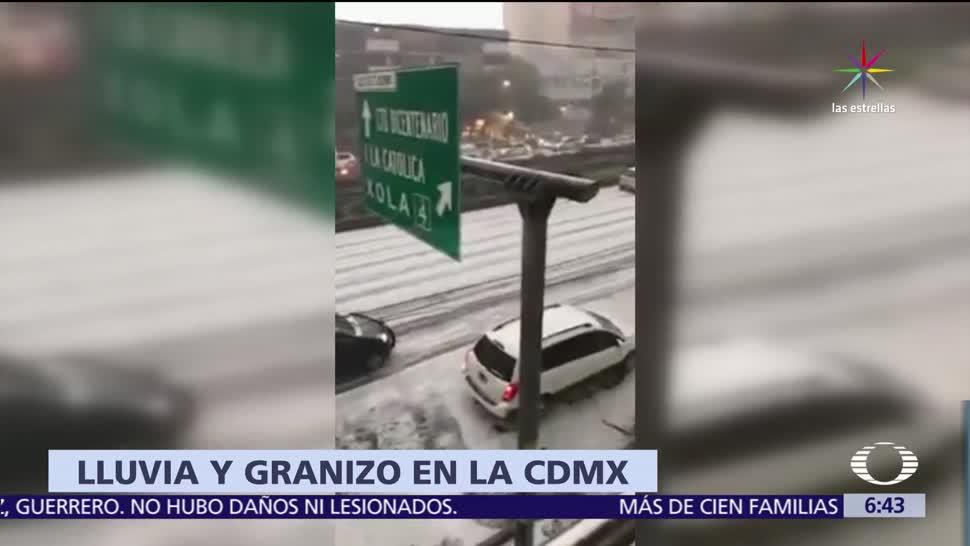 Granizada Centro Sur Ciudad Mexico Tormenta