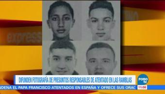 Difunden Fotografias Presuntos Terroristas Atentado Ramblas