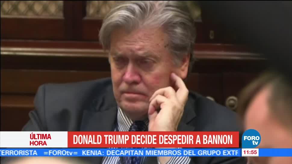 Donald Trump Despide Asesor Steve Bannon
