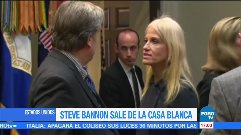 Steve Bannon sale de Casa Blanca