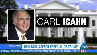 Renuncia Carl Icahn asesor especial Trump