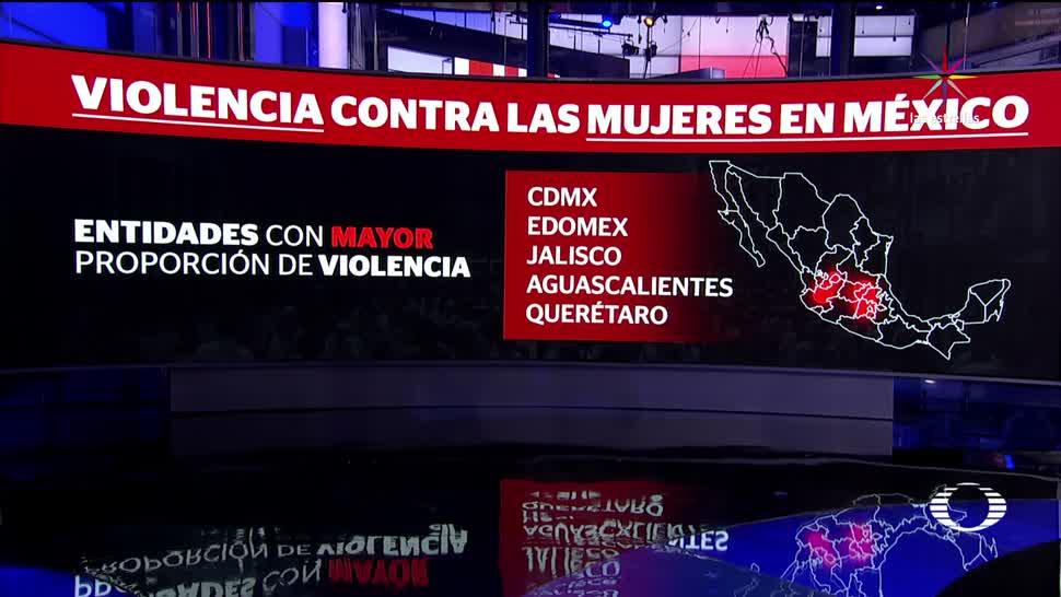 Así la violencia en México contra las mujeres
