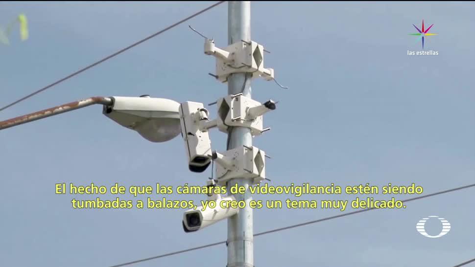 A balazos destruyen cámaras de vigilancia en Culiacán