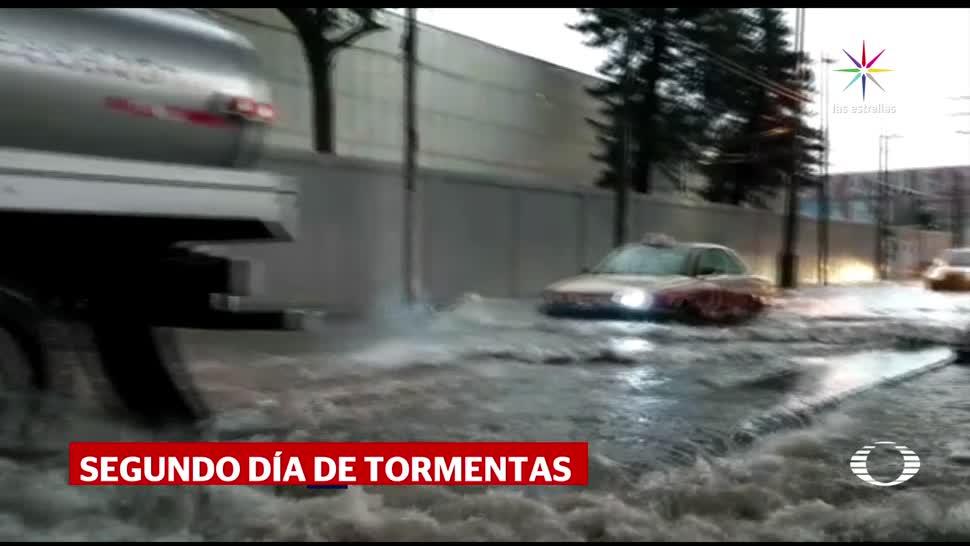 Segundo día de lluvia intensa en la CDMX