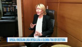 Exfiscal venezolana llega a Colombia tras ser destituida