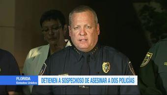 Policía de Florida detiene sospechoso de muerte de policías en Kissimme