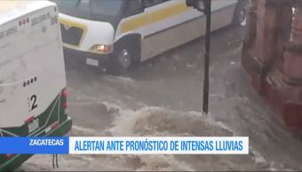 Zacatecas en alerta por pronóstico de lluvias intensas
