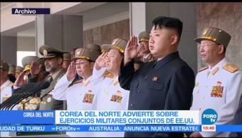 Corea del Norte, ejercicios, militares, EU