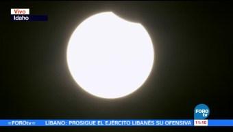 Comienza, Oregon, eclipse total, Sol