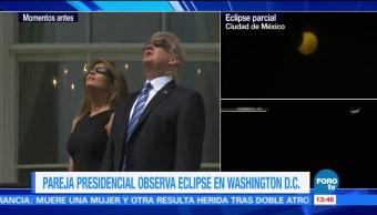 Donald Trump Eclipse Solar Casa Blanca Presidente Estados Unido