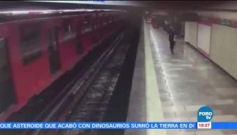 Suicida Hombre Metro Cdmx Suicido Vias Del Metro
