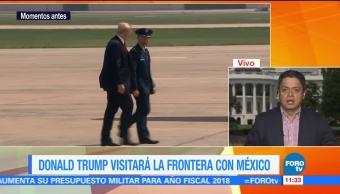 Trump, visitará, frontera, México