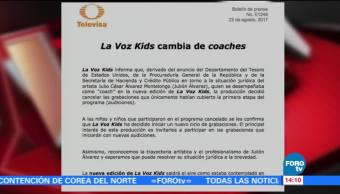 Voz Kids Cambia Coaches Produccion La Voz Kids Julion Alvarez