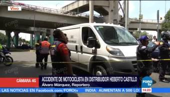 Muere Motociclista Distribuidor Heberto Castillo Cdmx