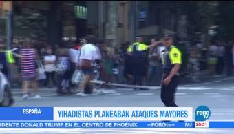 Terroristas planeaban ataques mayores en Barcelona