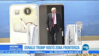 Trump visita zona fronteriza con México