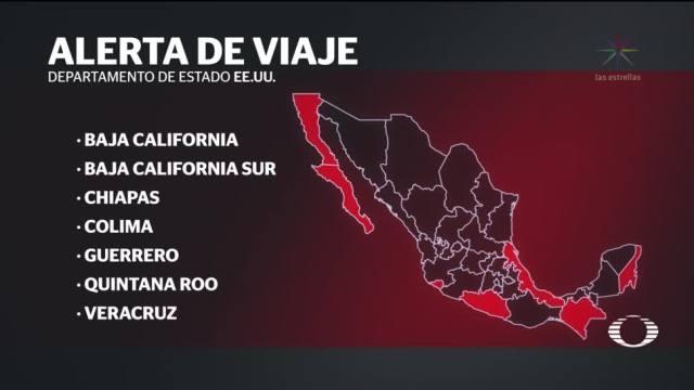 EU actualiza alerta viaje para México