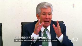 Comparece Gerardo Ruiz Esparza ante legisladores